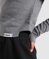 Gymshark Slounge Crescent Sweater - Charcoal Marl 11