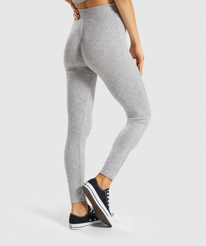 Gymshark Slounge Leggings - Light Grey Marl 2
