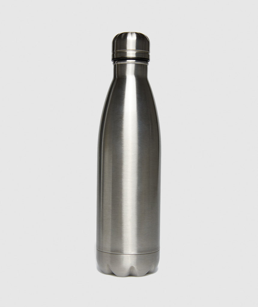 Gymshark Metal Water Bottle - Gun Metal SIlver 2