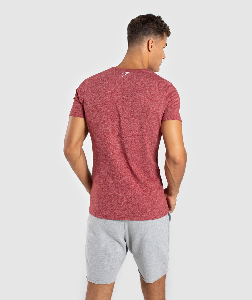 Gymshark Statement T-Shirt - Red Marl 2