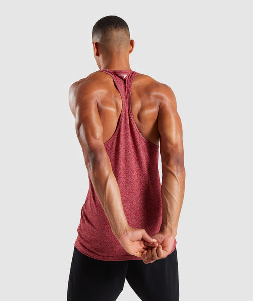 Gymshark Statement Stringer - Red Marl 1