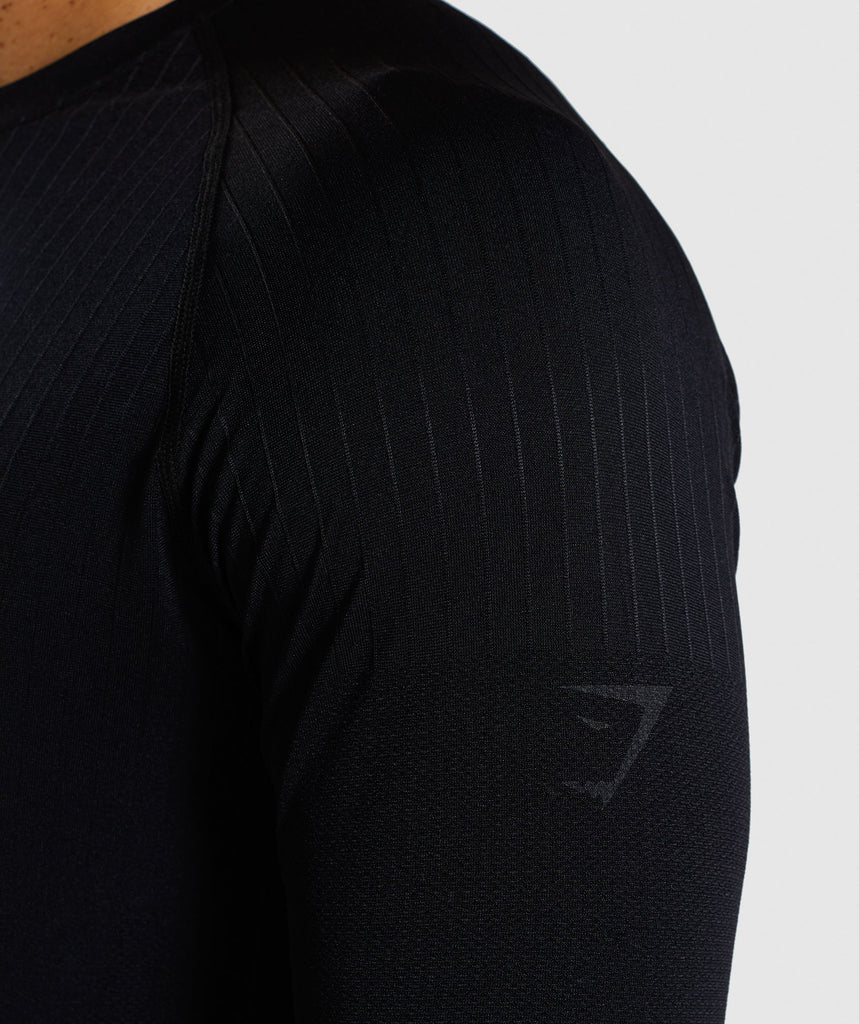 Gymshark Superior Lightweight Seamless Long Sleeve T-Shirt - Black 6