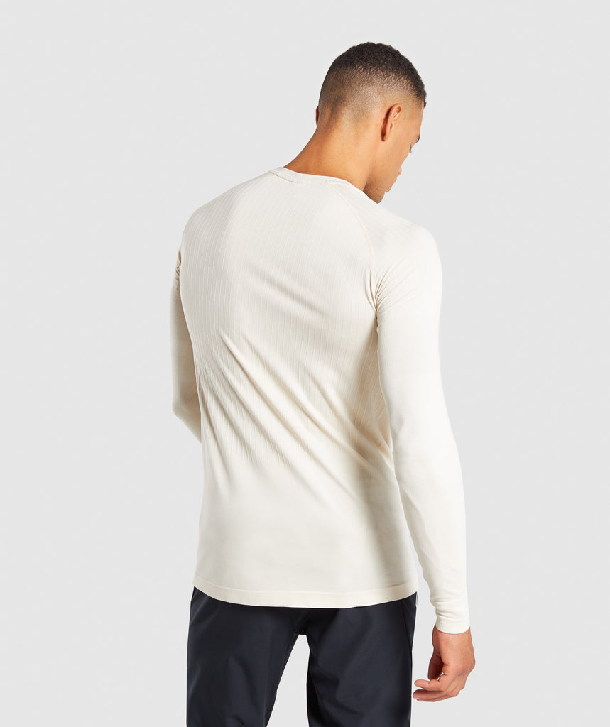 Gymshark Superior Lightweight Seamless Long Sleeve T-Shirt - Warm Beige 2