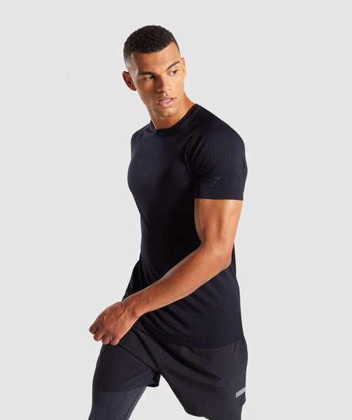 Gymshark Superior Lightweight Seamless T-Shirt - Black 2