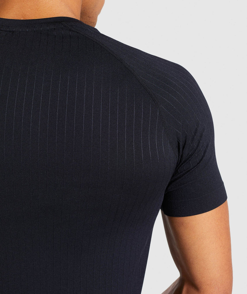 Gymshark Superior Lightweight Seamless T-Shirt - Black 6