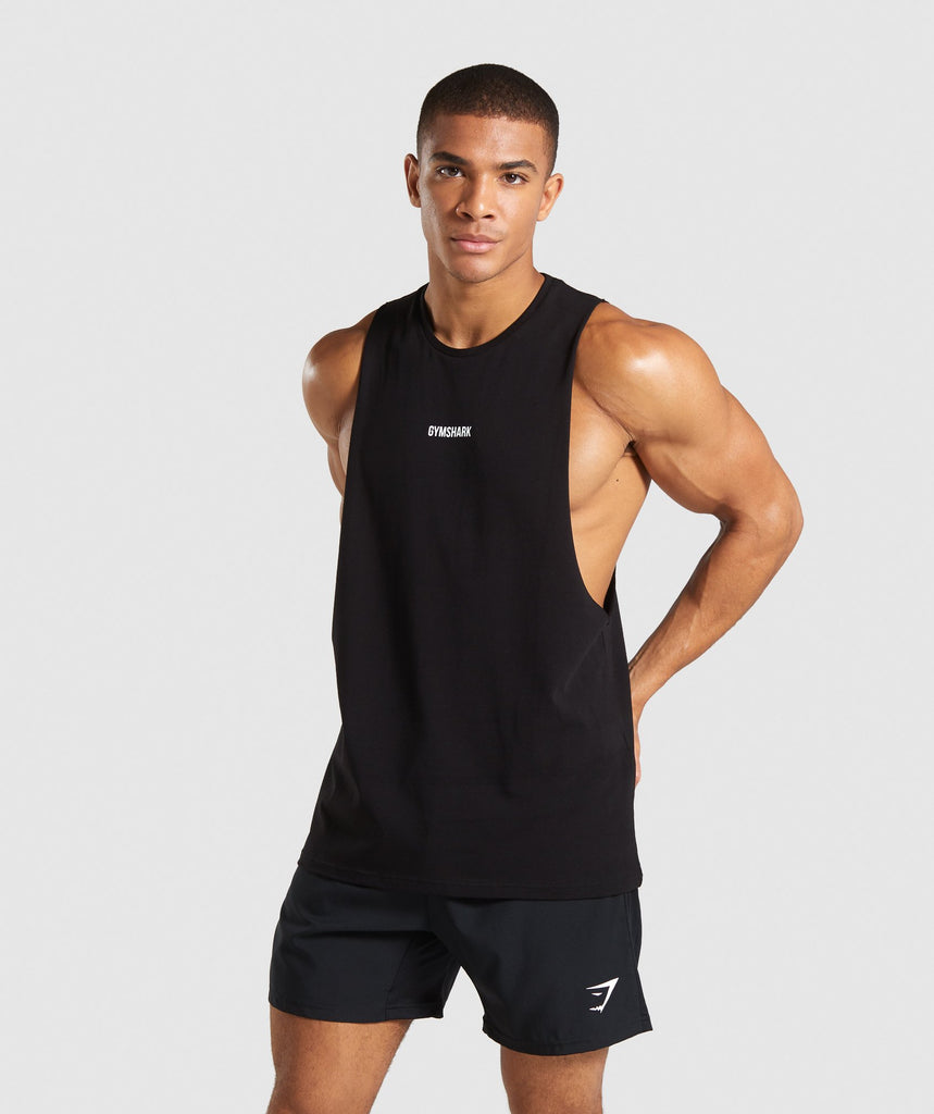 Gymshark TPT Drop Armhole T-Shirt - Black 1