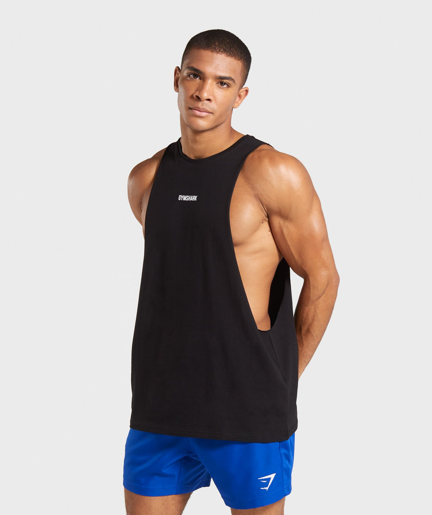 Gymshark TPT Loose Drop Arm Tank - Black 1