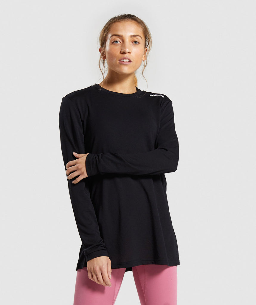Gymshark Training Oversized Long Sleeve Tee - Black 1
