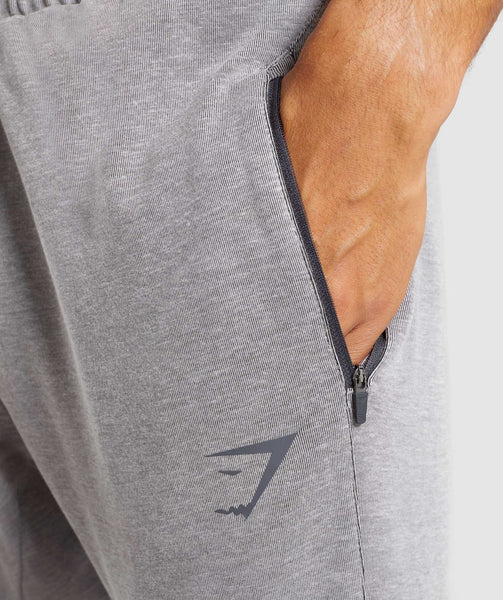 Gymshark Take Over Bottoms - Light Grey Marl 4
