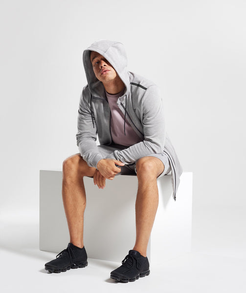 Gymshark Take Over Shorts - Light Grey Marl 3