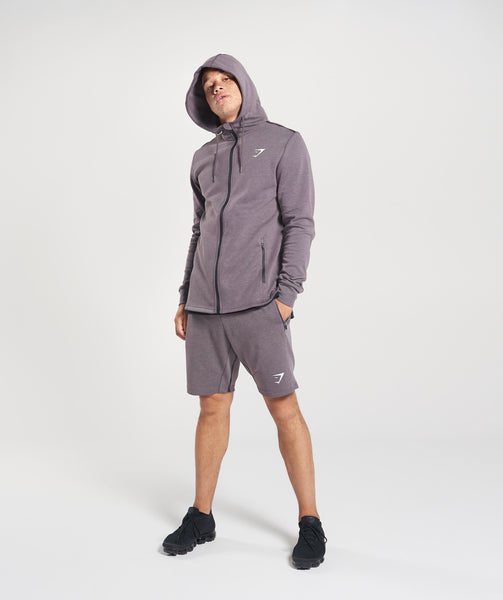 Gymshark Take Over Zip Hoodie - Slate Lavender Marl 3