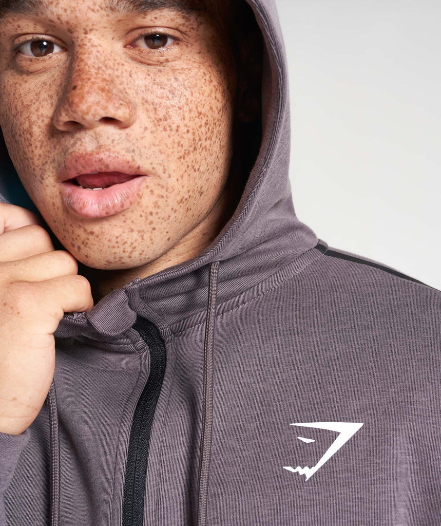 Gymshark Take Over Zip Hoodie - Slate Lavender Marl 5