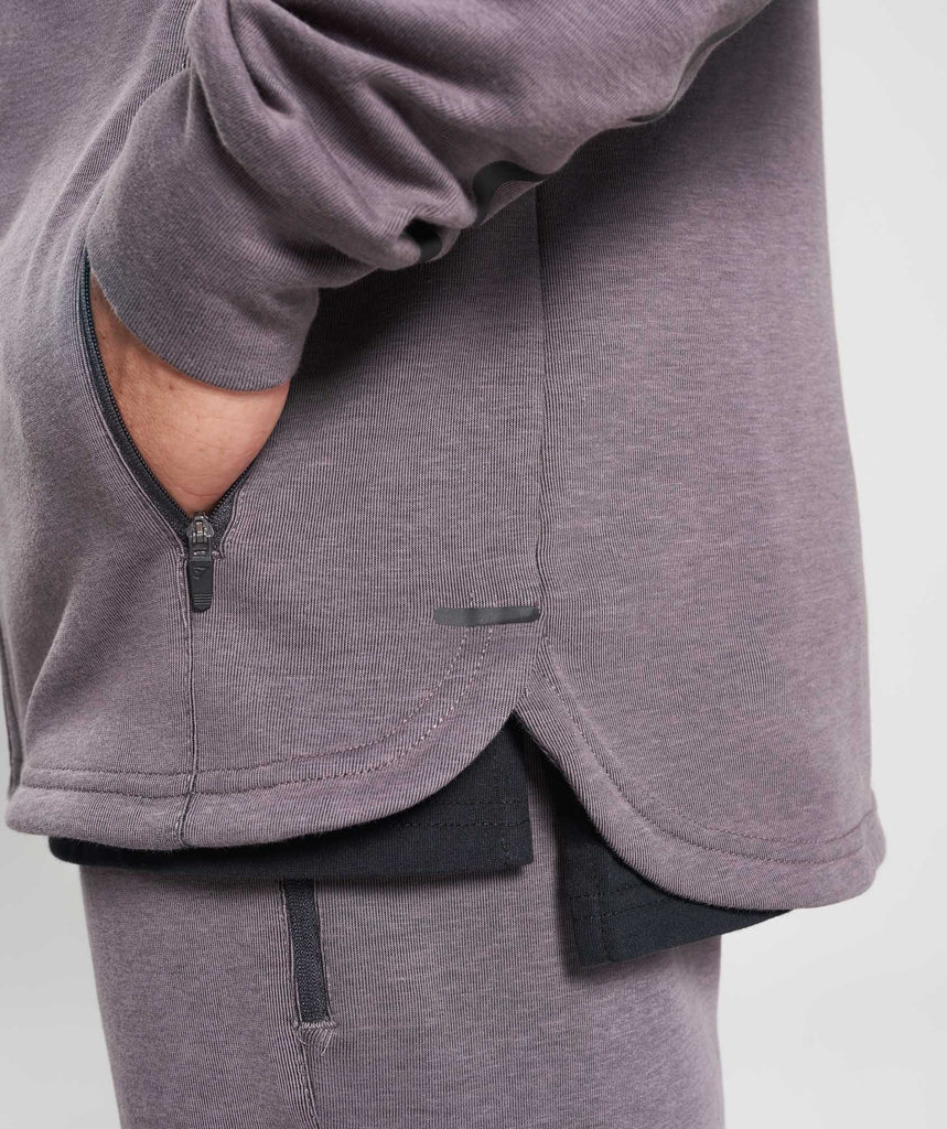Gymshark Take Over Zip Hoodie - Slate Lavender Marl 6