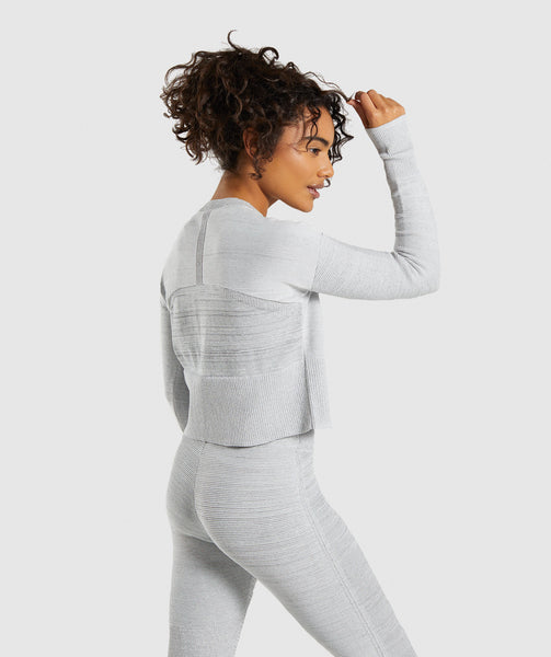 Gymshark Time Out Knit Sweater - Light Grey 1