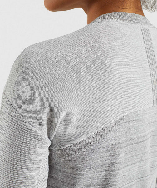 Gymshark Time Out Knit Sweater - Light Grey 4