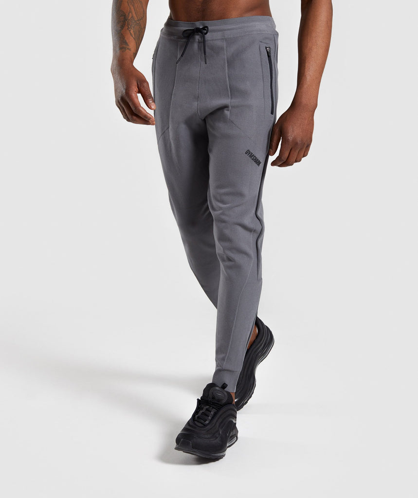 Gymshark True Knit Joggers - Smokey Grey 1