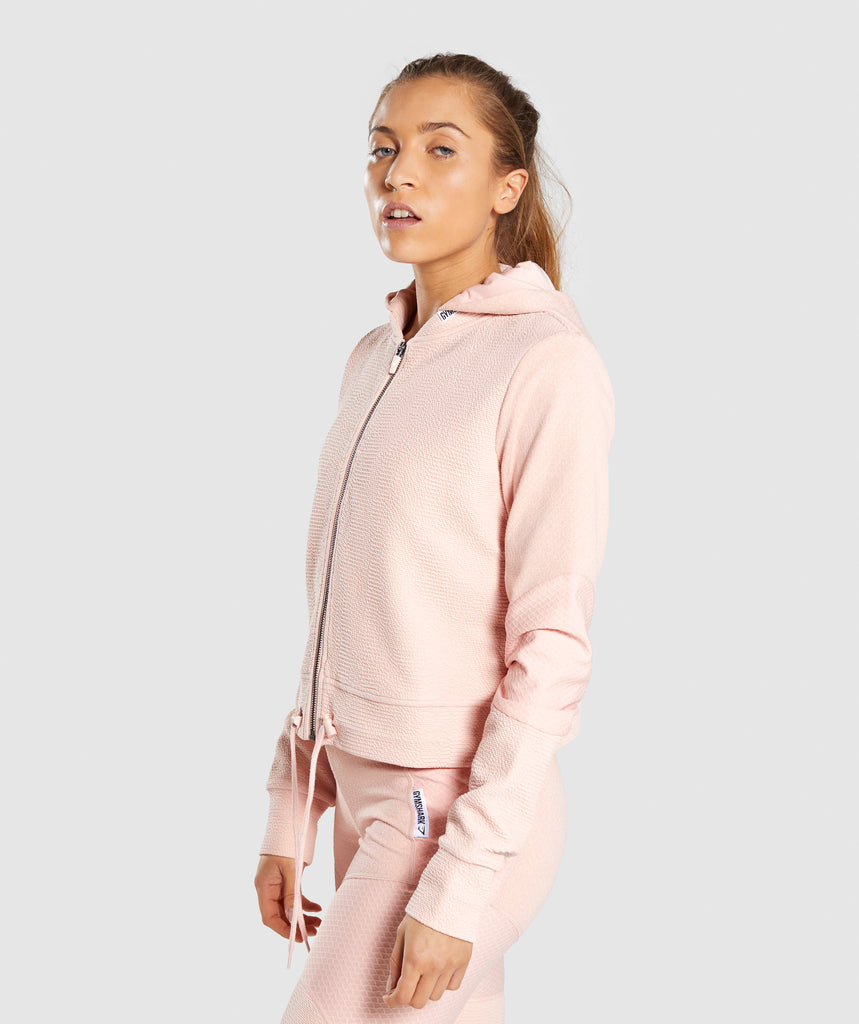 a87072ad7 Gymshark True Texture Hooded Bomber Jacket - Blush Nude