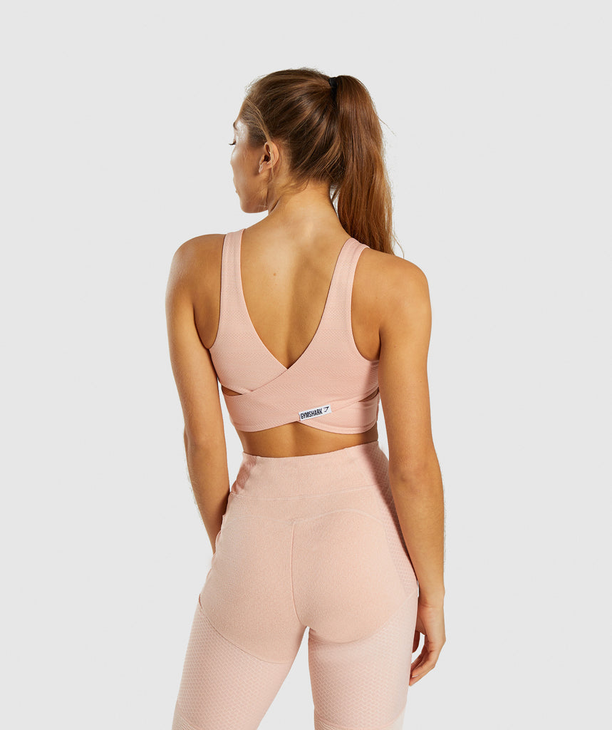 Gymshark True Texture Sports Bra - Blush Nude 2