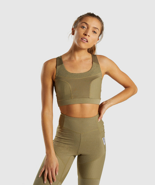 Gymshark True Texture Sports Bra - Washed Khaki 4