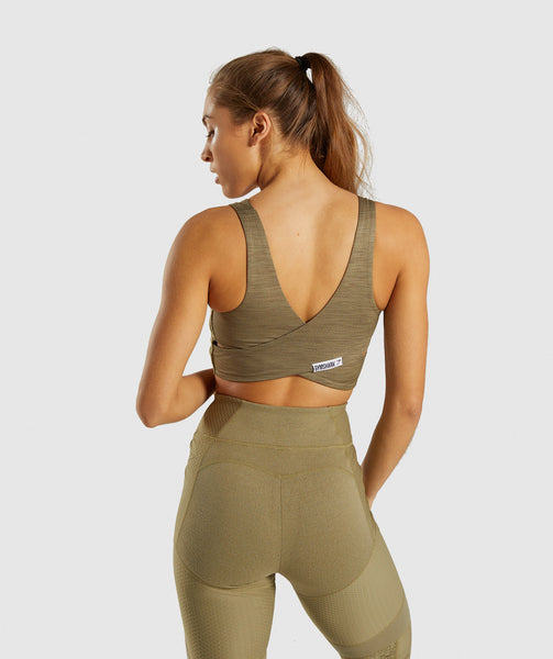 Gymshark True Texture Sports Bra - Washed Khaki 1