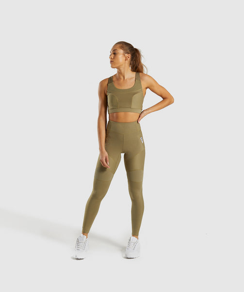 Gymshark True Texture Sports Bra - Washed Khaki 3