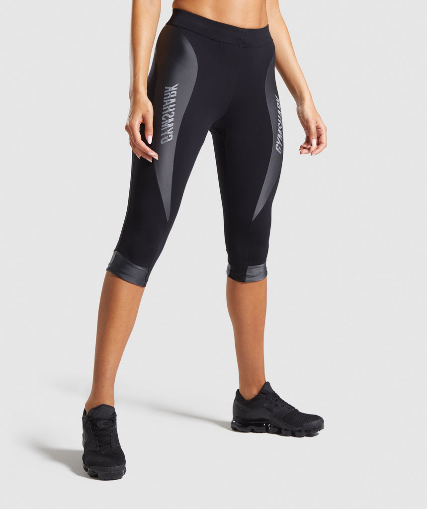 Gymshark Turbo Cropped Leggings - Black 1