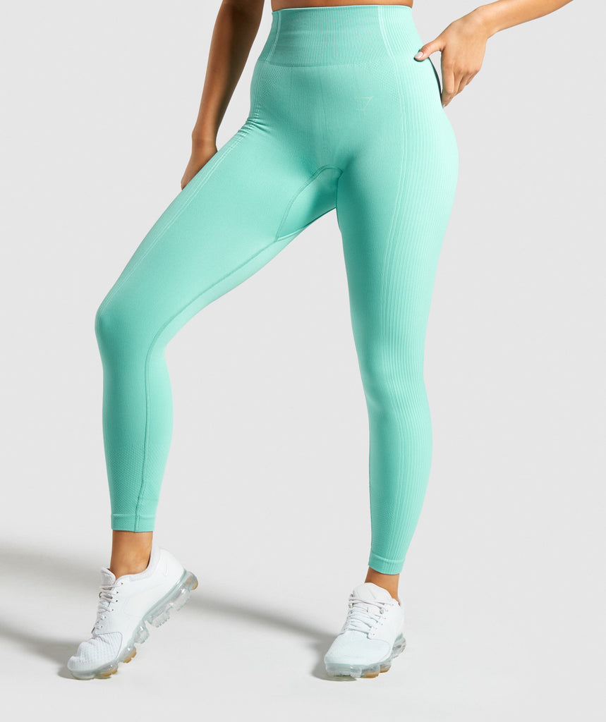 Gymshark Ultra Seamless Leggings - Green 1