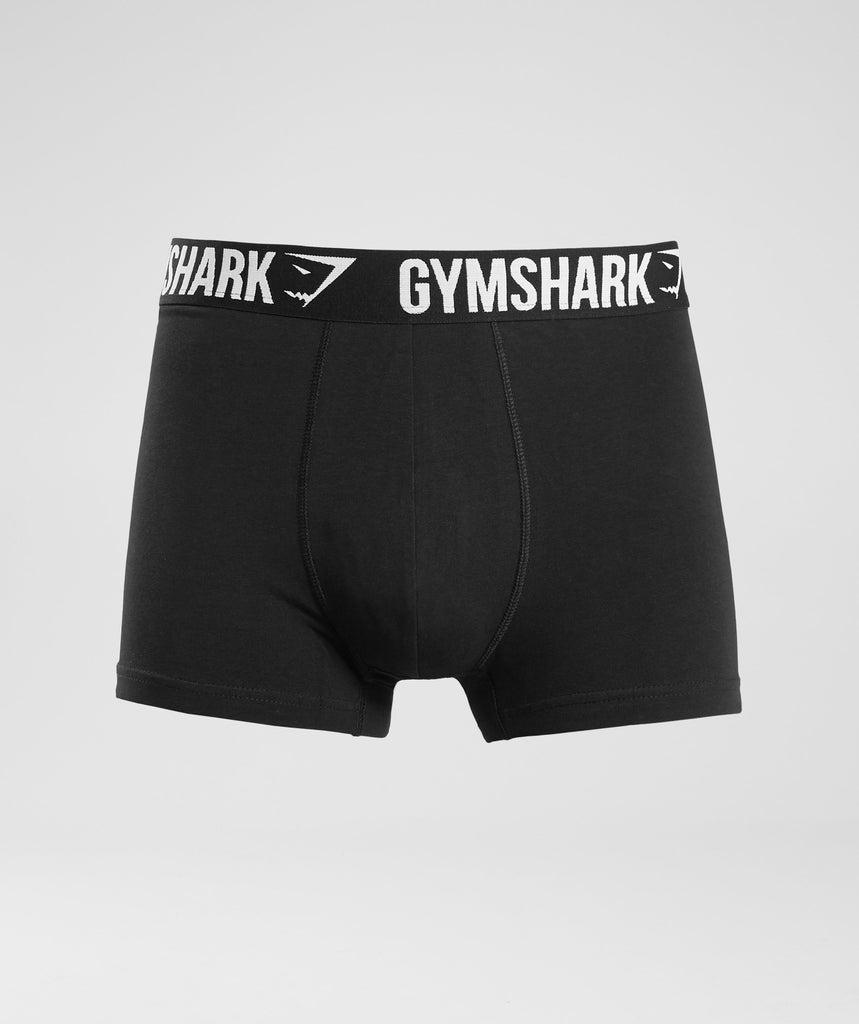 Gymshark Mens Trunks 2pk - Black/White 1