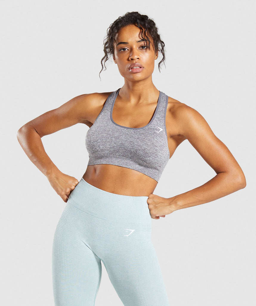 Gymshark Vital Seamless Sports Bra - Smokey Grey Marl 1