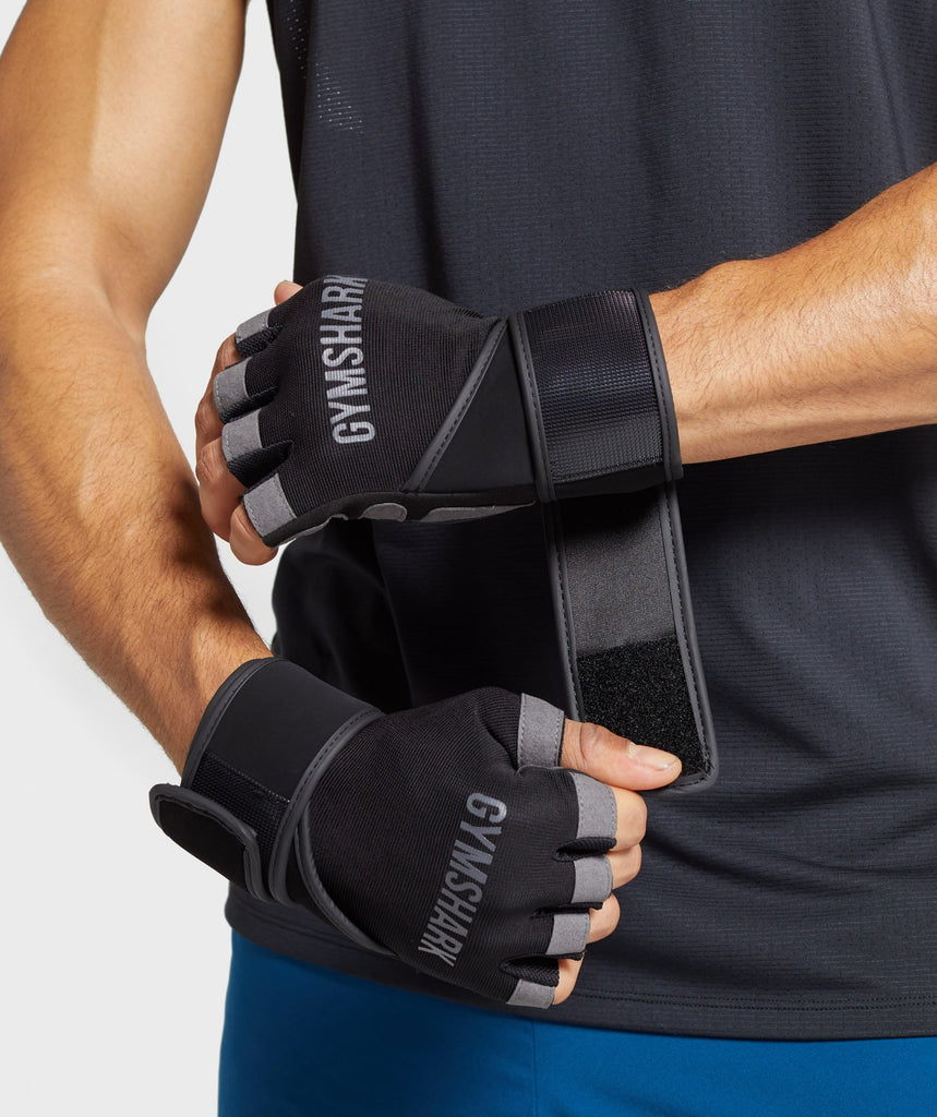 Gymshark Wrap Lifting Gloves - Black 1