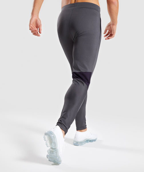 Gymshark Gravity Bottoms - Charcoal/Nightshade Purple 1