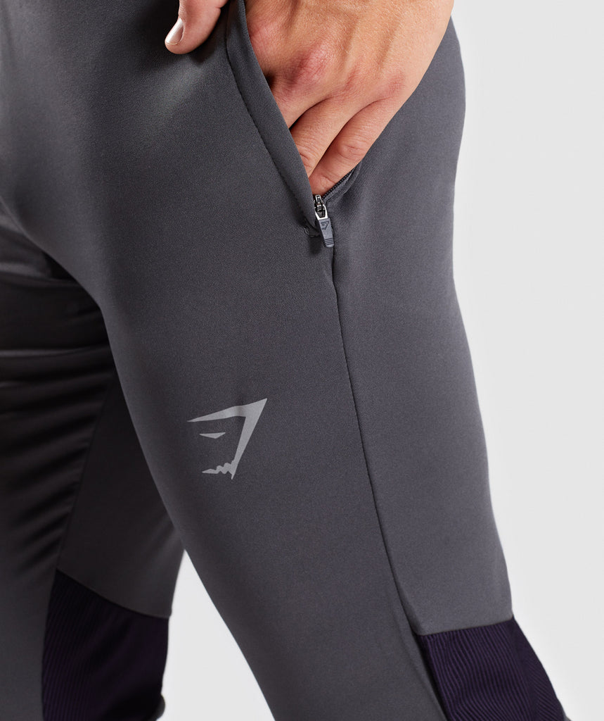 Gymshark Gravity Bottoms - Charcoal/Nightshade Purple 6