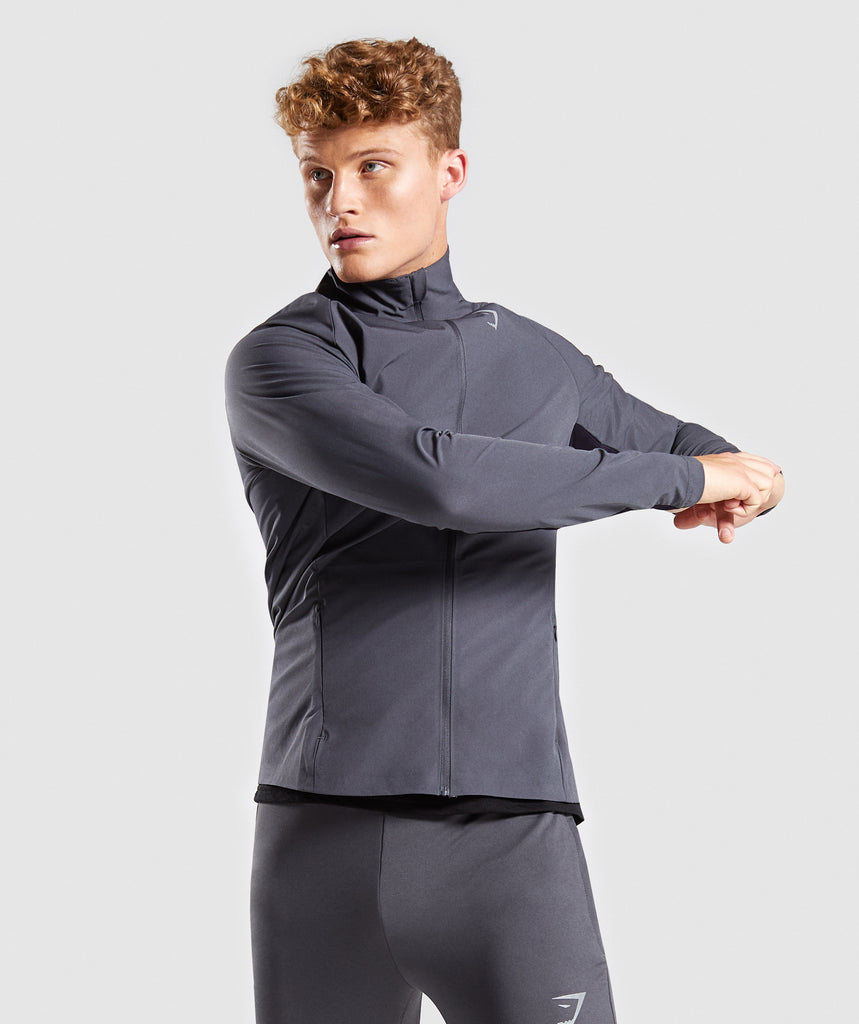 Gymshark Gravity Track Top - Charcoal/Nightshade Purple 4