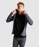 Gymshark Gravity Track Top - Charcoal/Nightshade Purple 10
