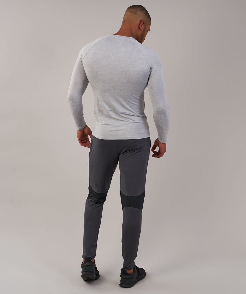 Gymshark Apex Long Sleeve T-Shirt - Light Grey Marl 2
