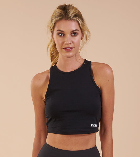 Gymshark Basic Crop Top - Black