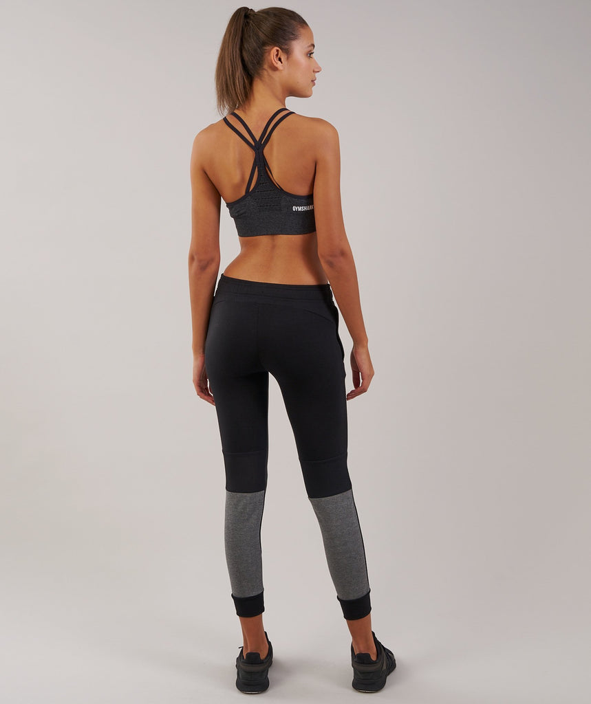 Gymshark Impulse Jogger - Black/Charcoal Marl 2