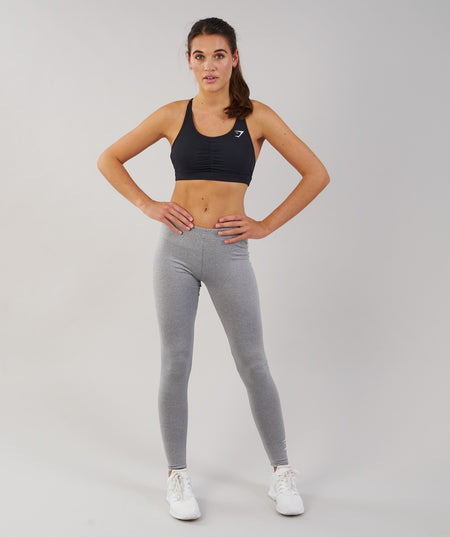 Gymshark Ark Jersey Leggings - Light Grey Marl 1