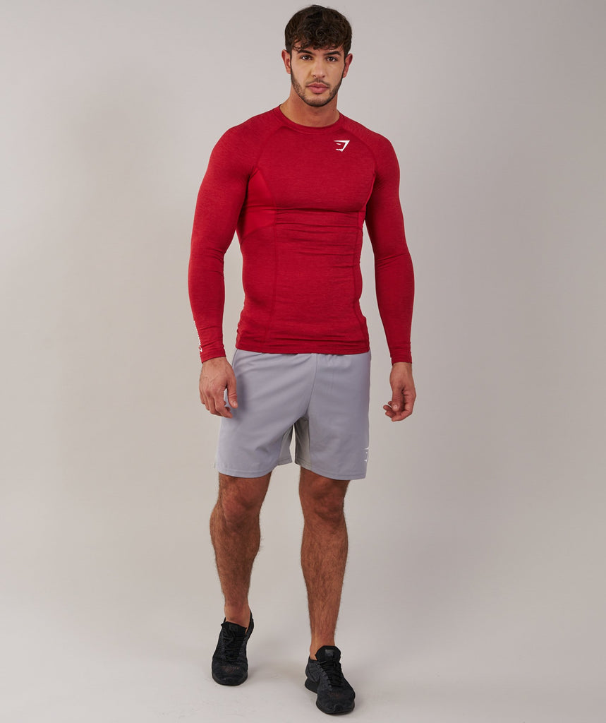 Gymshark Element Baselayer Long Sleeve Top - Deep Red 1