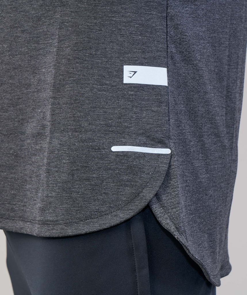 Gymshark Breathe Long Sleeve T-Shirt - Black Marl 2
