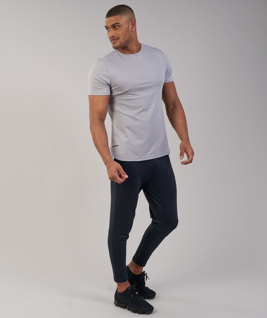 Gymshark Breathe T-Shirt - Light Grey Marl 1