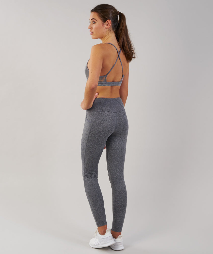 Gymshark DRY Sculpture Leggings - Charcoal Marl 2