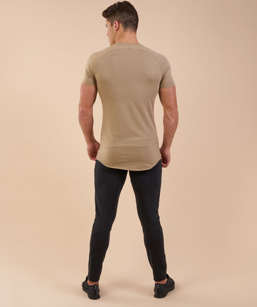 Gymshark Eaze T-Shirt - Coffee 1