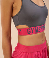 Gymshark Fit Sports Bra - Charcoal/Cranberry 11