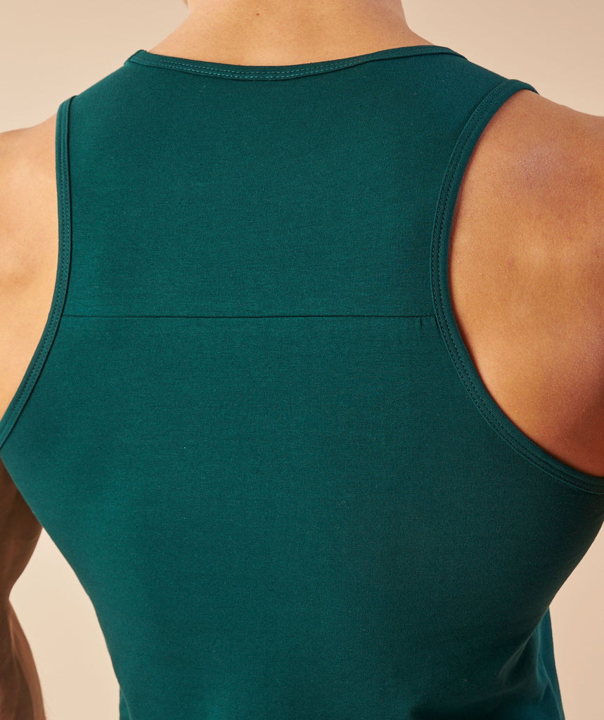 Gymshark Ion Tank - Forest Green 6