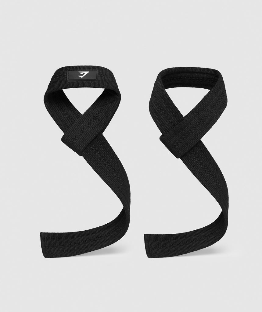 Gymshark Lifting Straps - Black 1