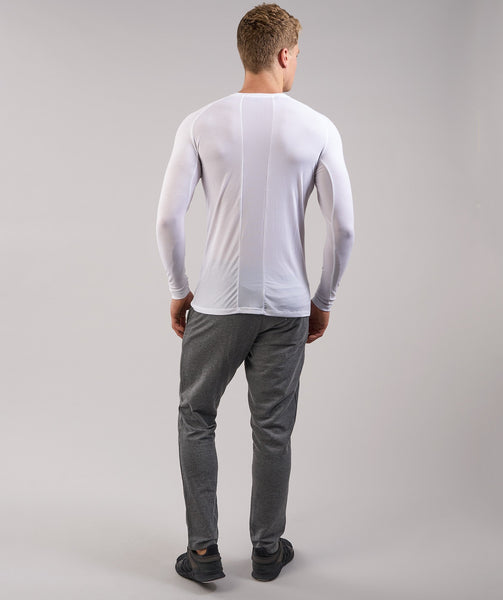 Gymshark Lightweight Long Sleeve T-Shirt - White