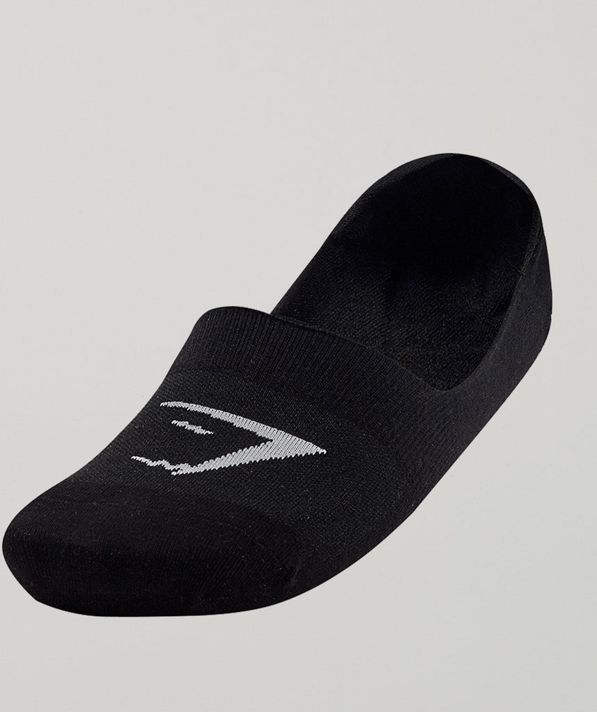 Gymshark Mens No Show Socks 3pk - Black