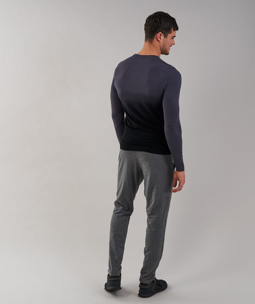 Gymshark Ombre Long Sleeve T-Shirt - Charcoal/Black 2