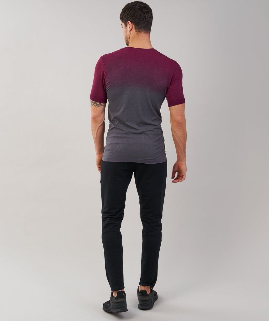 Gymshark Ombre T-Shirt - Port/Charcoal 2